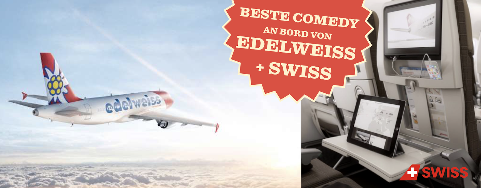 STAND UP! Comedy Show on board Swiss Edelweiss